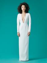 Diane von Furstenberg V-Neck Tailored Gown