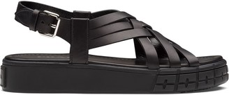 Prada Strappy 30mm Flatform Sandals