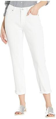 7 For All Mankind Josefina in Broken Twill White (Broken Twill White) Women's Jeans