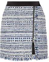 Karl Lagerfeld Fringed Tweed Mini Skirt