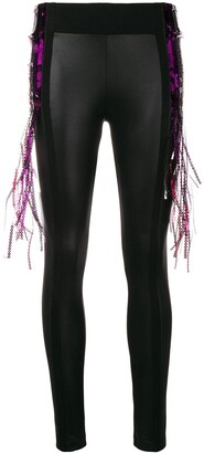 NO KA 'OI Fringe Detailing Leggings