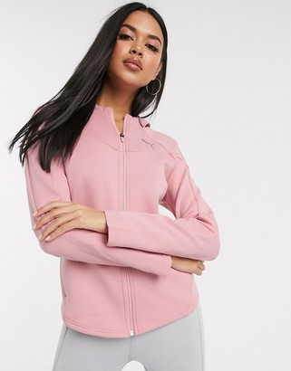 Puma evostripe hoodie in pink