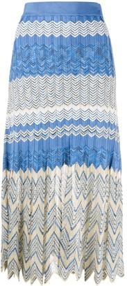 Sandro Paris Soria zigzag skirt