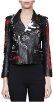 Faith Connexion Embroidered Leather Jacket