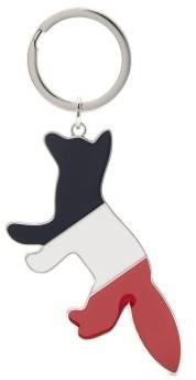 MAISON KITSUNÉ Logo-engraved Tricolour-fox Metal Key Ring - Multi