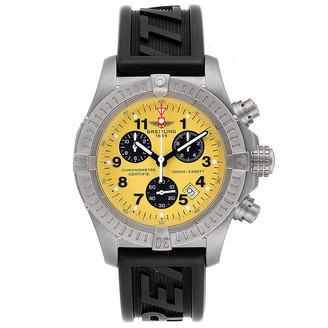 Breitling Yellow Titanium Aeromarine Chrono Avenger M1 E73360 Men's Wristwatch 44 MM
