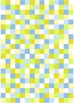 Camilla And Marc Italtex Tetris Kids Rug, Green/Yellow/Blue 150W x 210H cm