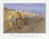 iSi Beach Petals by Marcia Joy Duggan 20x16 Photograph Art Print Poster Beach Ocean Seaside Red Bicycle Flowers Basket Bike Dunes Fence
