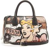 Prada Comic-print leather bag