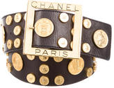 Chanel Medallion Leather Belt