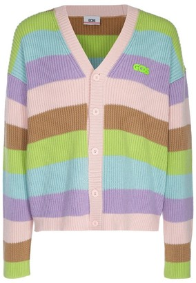 GCDS Striped Cardigan