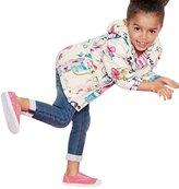 Leegor Baby Cartoon Graffiti Hooded Coat Outerwear Girls Windbreaker Jackets