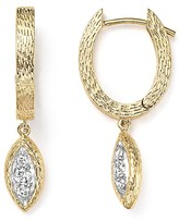 Bloomingdale's Diamond Huggie Hoop Earrings in 14K Yellow Gold, .20 ct. t.w. - 100% Exclusive