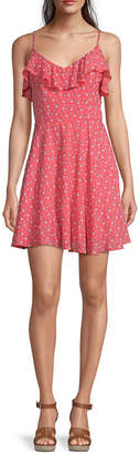 Trixxi Juniors Sleeveless Floral Fit & Flare Dress