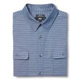 Mossimo Men's S Slim Fit Stripe Dress Shirt Navy