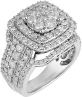MODERN BRIDE Womens 3 CT. T.W. Genuine Round White Diamond 10K Gold Engagement Ring