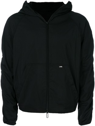 Emporio Armani Hooded Cropped Jacket
