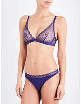 Implicite Fiction lace and stretch-jersey soft-cup bra