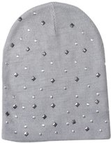 D&Y Women's Square and Round Scattered Studs Beanie