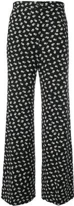 ALEXACHUNG Alexa Chung floral wide-leg trousers