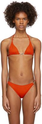 Rudi Gernreich Orange Buckle Bikini Top