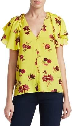 A.L.C. Clara Floral Silk Blouse