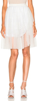 Rodarte Lace Tiered Wrap Skirt in White.