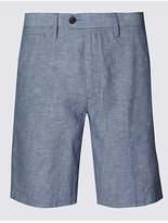 M&S Collection Linen Blend Chambray Chino Shorts
