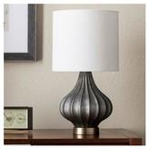 Threshold Ridged Glass Gourd Table Lamp - Dark Gray- (Includes CFL Bulb