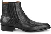 Jo Ghost Iguana-Embossed Leather Ankle Boots