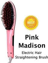 Hair Straightener Brush. Electric Hair Straightening Brush Comb, Thermal Heated Prime Hot Brush for Silky Straight Hair Gift.