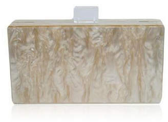 Mother of Pearl Milanblocks Champagne Acrylic Clutch Bag by The Workshop at Macy