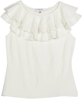 Milly Girl's Tiered Flounce Knit Sleeveless Top, Size 7-16