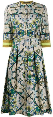 Luisa Cerano Floral Shirt Dress