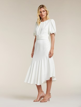 Forever New Celeste Puff Sleeve Maxi Dress - Porcelain - 14