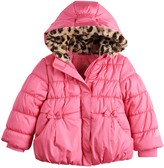 ZeroXposur Toddler Girl Faux-Fur-Hooded Puffer Jacket