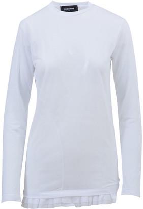 DSQUARED2 Oversize Ruffled Hem T-shirt