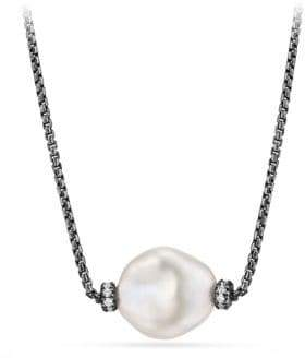 David Yurman Solari Station Necklace with Diamonds and Pearls
