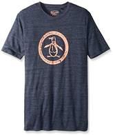 Original Penguin Men's Big-Tall Triblend Distressed Circle Logo T-Shirt