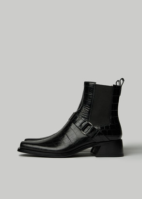 Givenchy Men's Austin Croc Embossed Chelsea Boot in Black Size 40