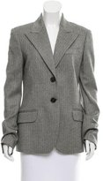Michael Kors Virgin Wool Herringbone Blazer