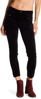 Democracy Double Zip Ankle Skimmer Velour Jeans