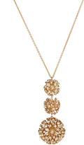 Alexis Bittar Crystal Burst Triple Sphere Long Pendant Necklace