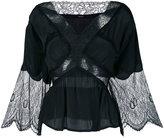 Diesel - lace panel blouse