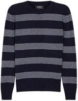 A.p.c. Vegas Striped Wool Jumper