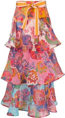Zimmermann Lovestruck tiered skirt