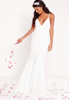 Missguided Bridal Cami Maxi Dress White