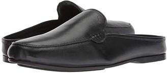 Carlos by Carlos Santana Planeo Slide (Navy Blue Calfskin Leather) Men's Clog Shoes