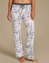 Marks and Spencer Printed Long Pyjama Bottoms