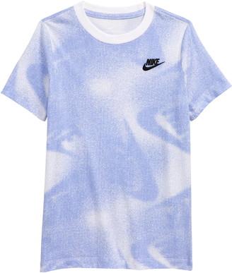 Nike Kids' Sportswear Dot Matrix Logo Print T-Shirt